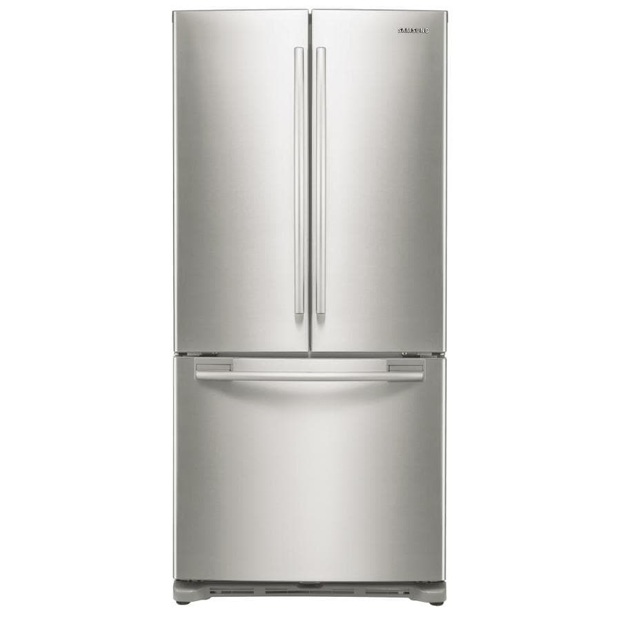 Samsung 17.51-cu ft Counter-Depth French Door Refrigerator with Single Ice Maker (Stainless Platinum) ENERGY STAR