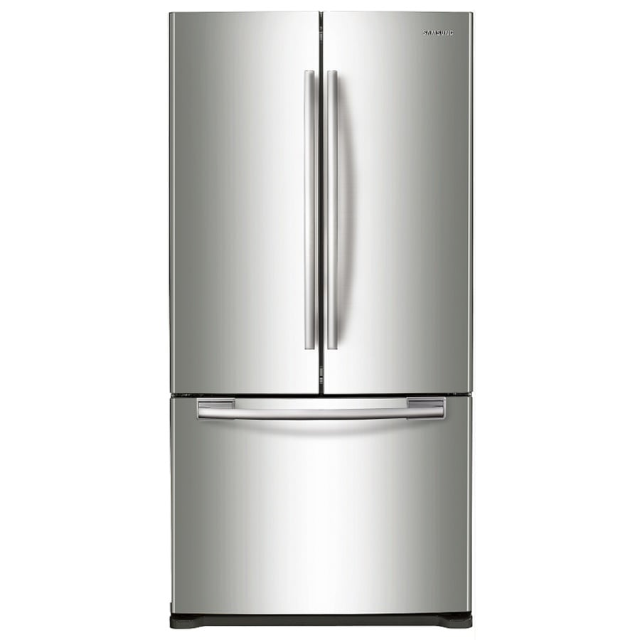 Samsung 17.51-cu ft Counter-Depth French Door Refrigerator with Single Ice Maker (Stainless Steel)
