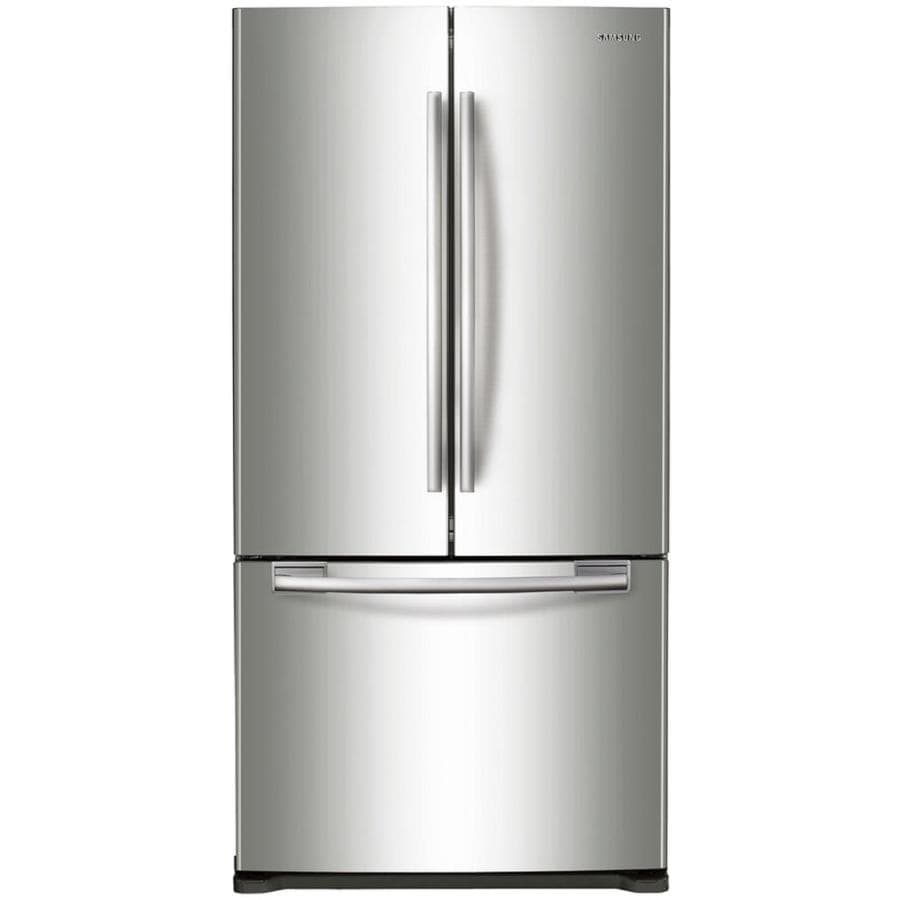 Shop samsung ft french door refrigerator with single ice maker stainless steel at for 19 cu ft refrigerator french door