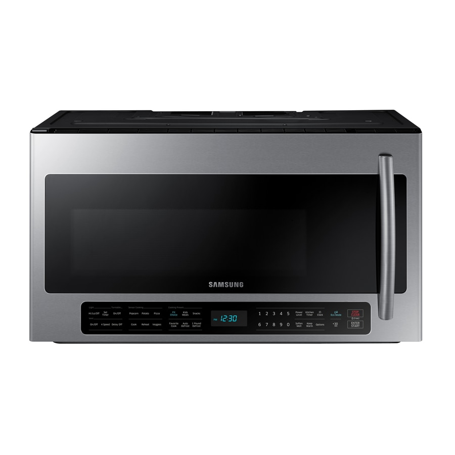 Lowes microwaves over the range white - Samsung 2 Cu Ft Over The Range Microwave With Sensor Cooking Controls