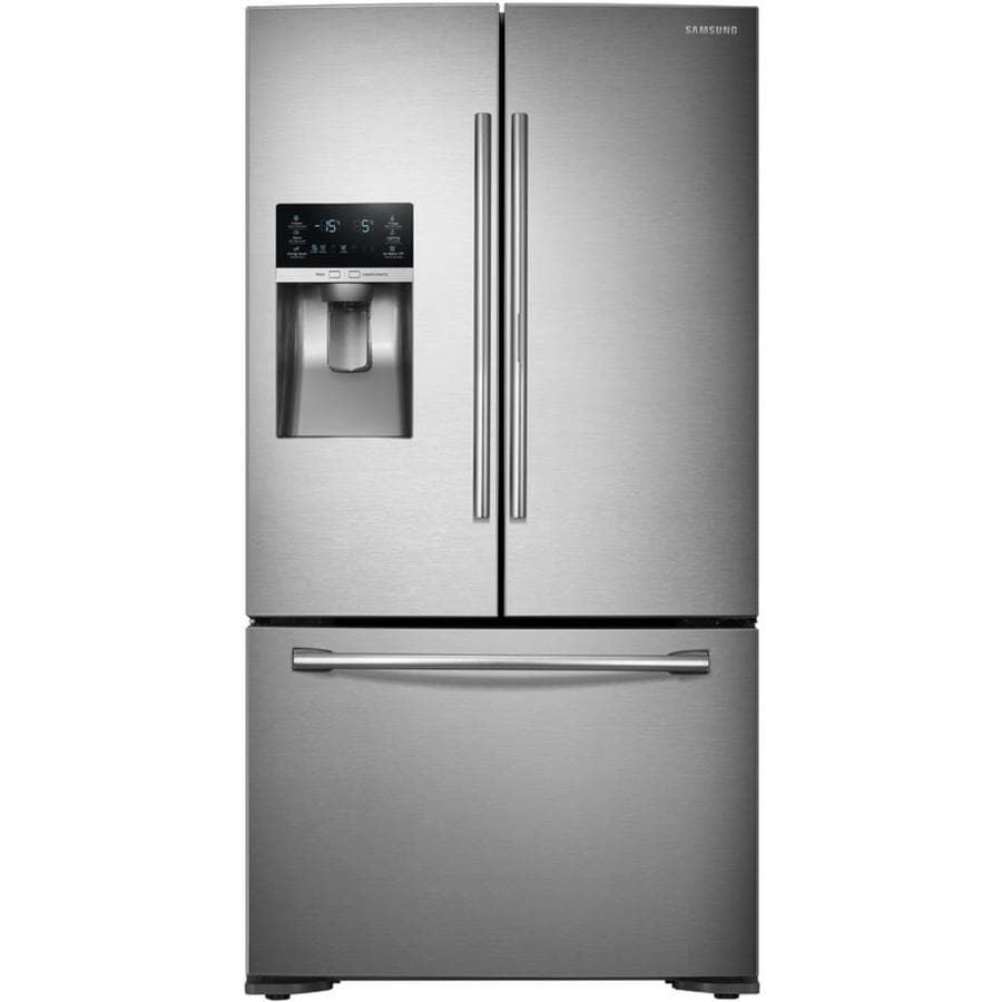 Samsung 22.5-cu ft Counter-Depth French Door Refrigerator with Ice Maker and Door within Door (Stainless steel) ENERGY STAR