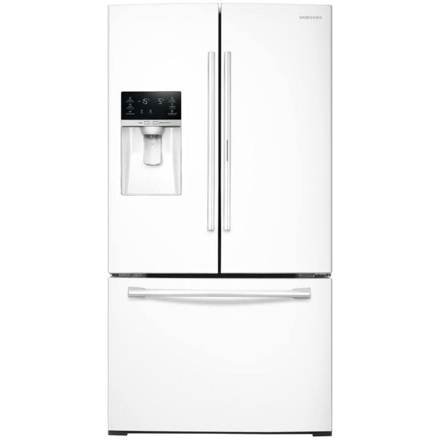 Samsung Food Showcase 27.8-cu ft French Door Refrigerator with Ice Maker and Door within Door (White) ENERGY STAR
