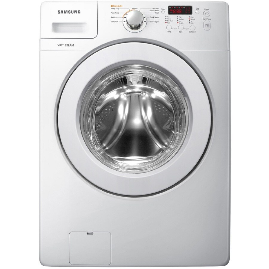 Samsung 3 6 Cu Ft Stackable Front Load Washer With Steam Cycle White
