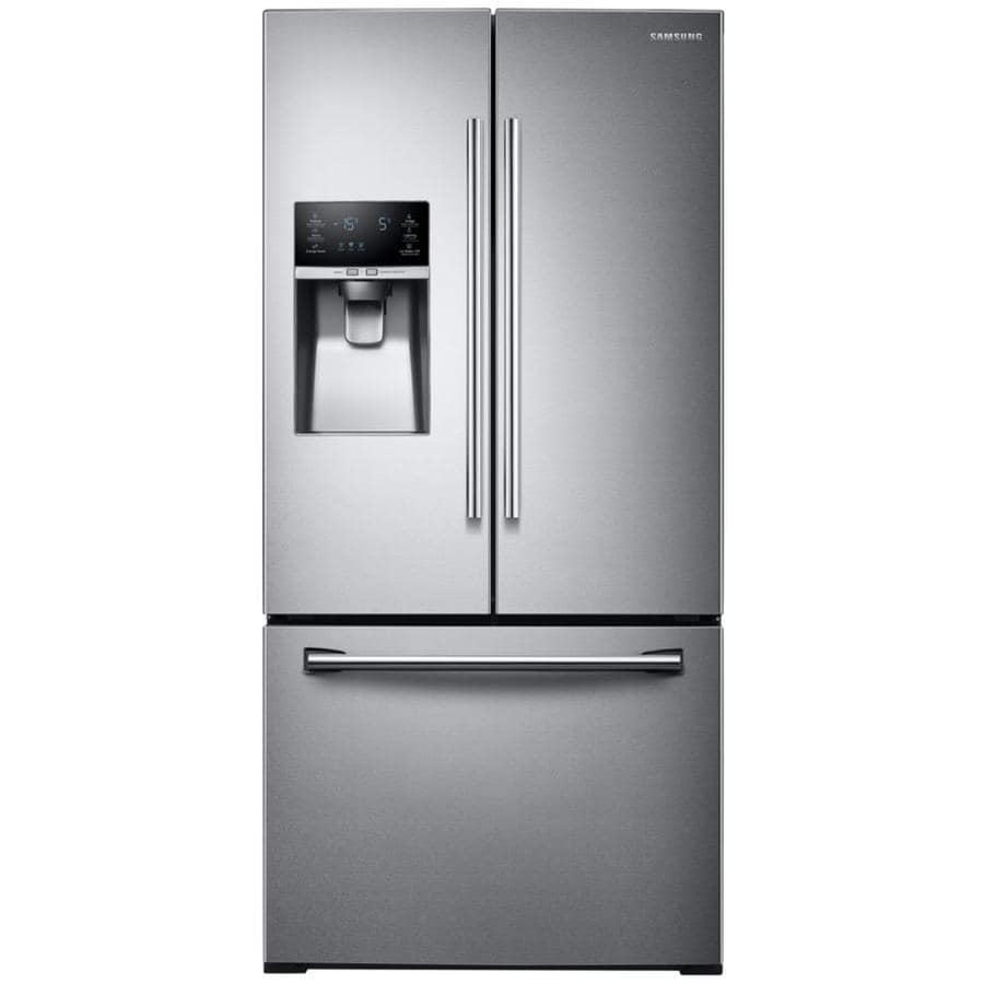 Shop samsung 25 5 cu ft french door refrigerator with ice for Five foot french doors