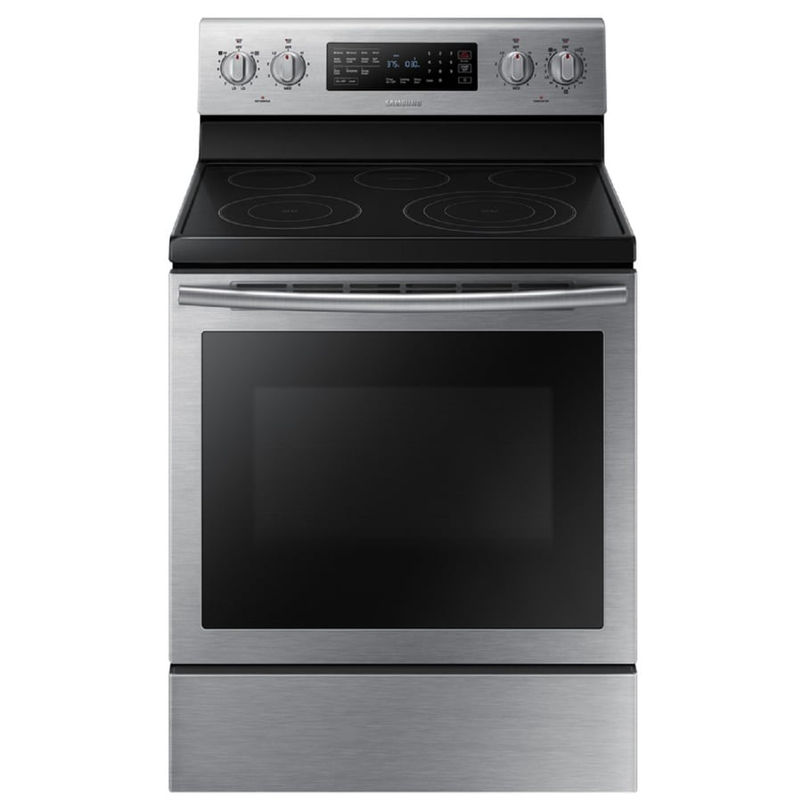 Samsung True Convection Smooth Surface Freestanding 5-Element 5.9-cu ft Self-Cleaning Convection Electric Range (Stainless Steel) (Common: 30 Inch; Actual: 29.875 Inches)