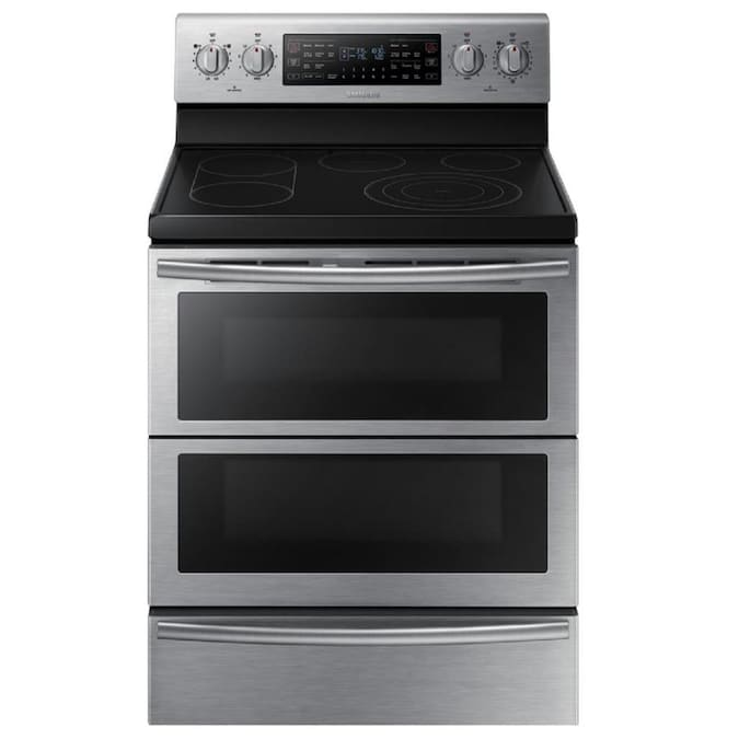 Samsung Flex Duo 30 In Smooth Surface 5, Double Oven Electric Range With Warming Drawer
