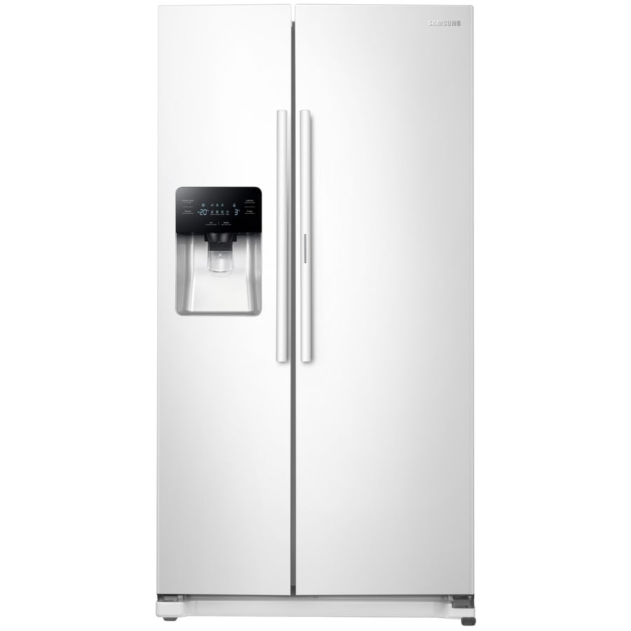 Samsung Food ShowCase 24.7-cu ft Side-by-Side Refrigerator with Single Ice Maker and Door within Door (White) ENERGY STAR