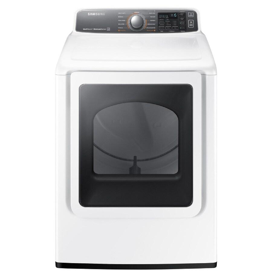 Samsung 7.4-cu ft Gas Dryer (White)