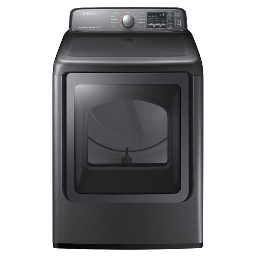 Samsung 7.4-cu ft Gas Dryer (Platinum) ENERGY STAR