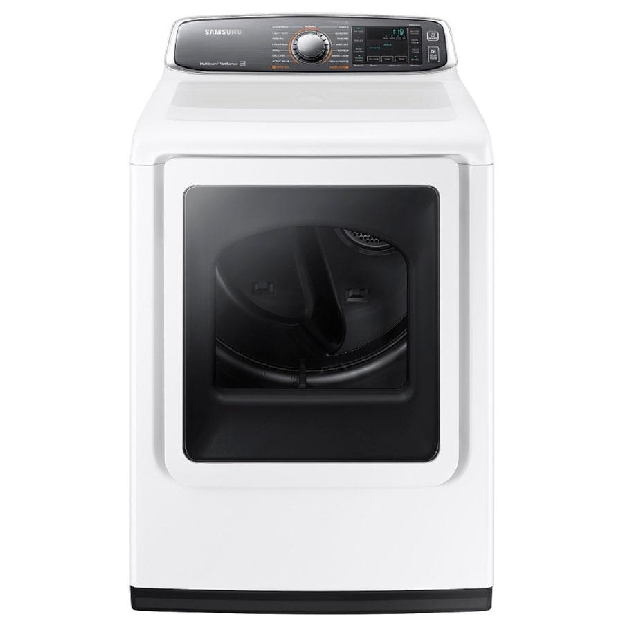 Samsung 7.4-cu ft Electric Dryer (White)