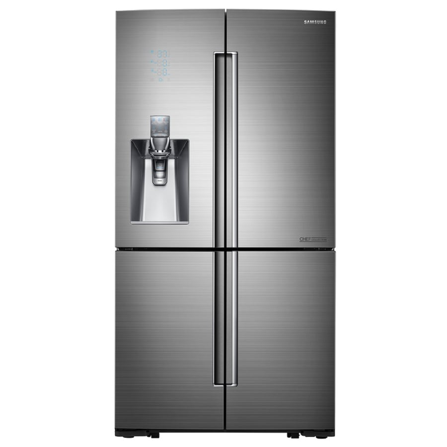 Samsung Model RFHARS. Lowes item Very impressive appliance. Samsung has really done well with the overall design of this refrigerator.