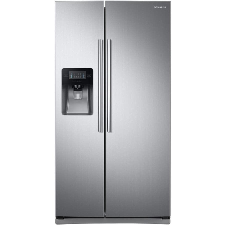 shop samsung ft side by side refrigerator with ice maker stainless steel at. Black Bedroom Furniture Sets. Home Design Ideas