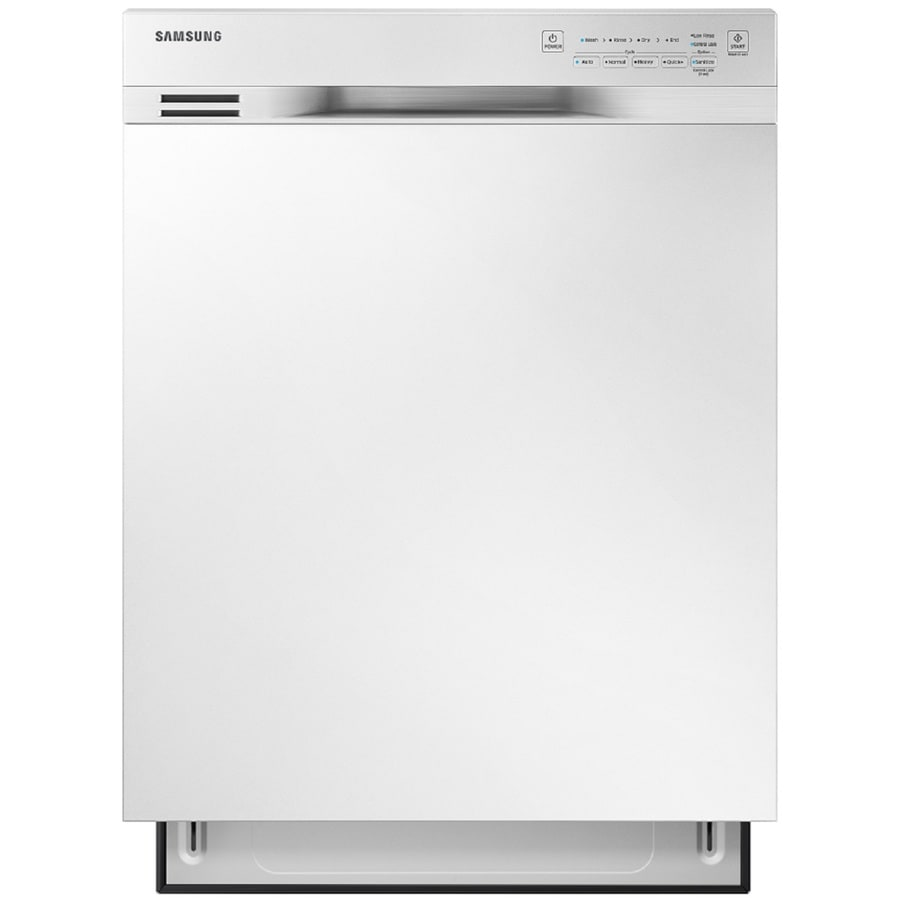 Samsung 50-Decibel Built-In Dishwasher with Hard Food Disposer (White) (Common: 24-in; Actual: 23.75-in) ENERGY STAR