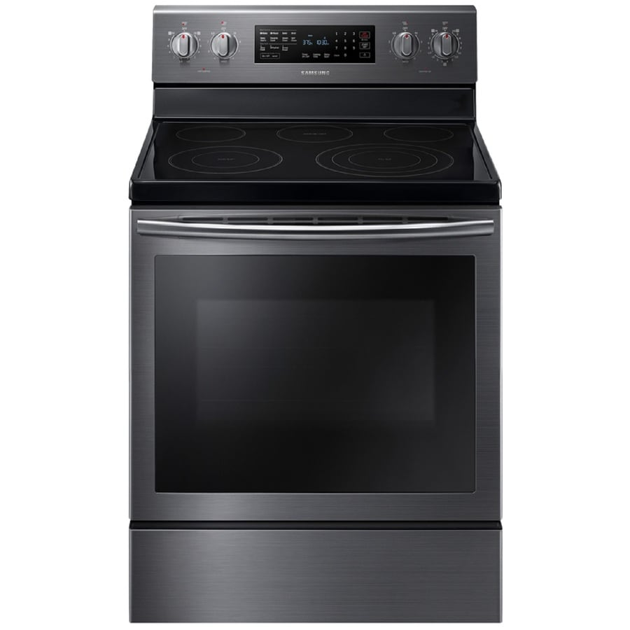 Black Electric Stove ~ Shop samsung true convection smooth surface freestanding