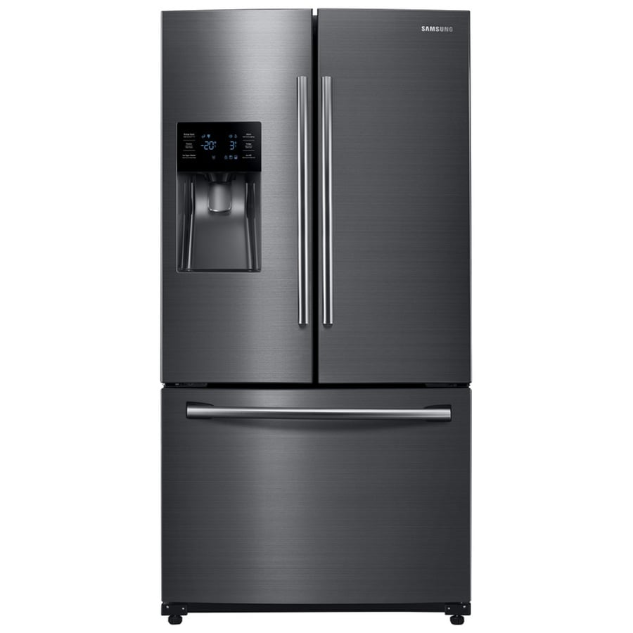 Samsung 24.6-cu ft French Door Refrigerator with Dual Ice Maker (Black Stainless Steel) ENERGY STAR