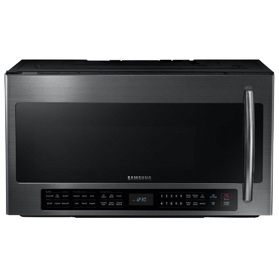 Samsung 2 1 Cu Ft Over The Range Microwave With Sensor Cooking Controls