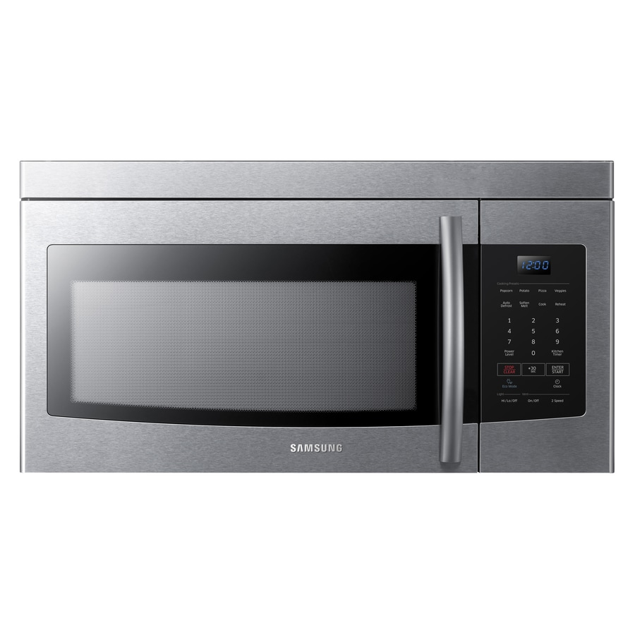 Samsung 1.6-cu ft Over-the-Range Microwave (Stainless Steel) (Common: 30-in; Actual: 29.875-in)