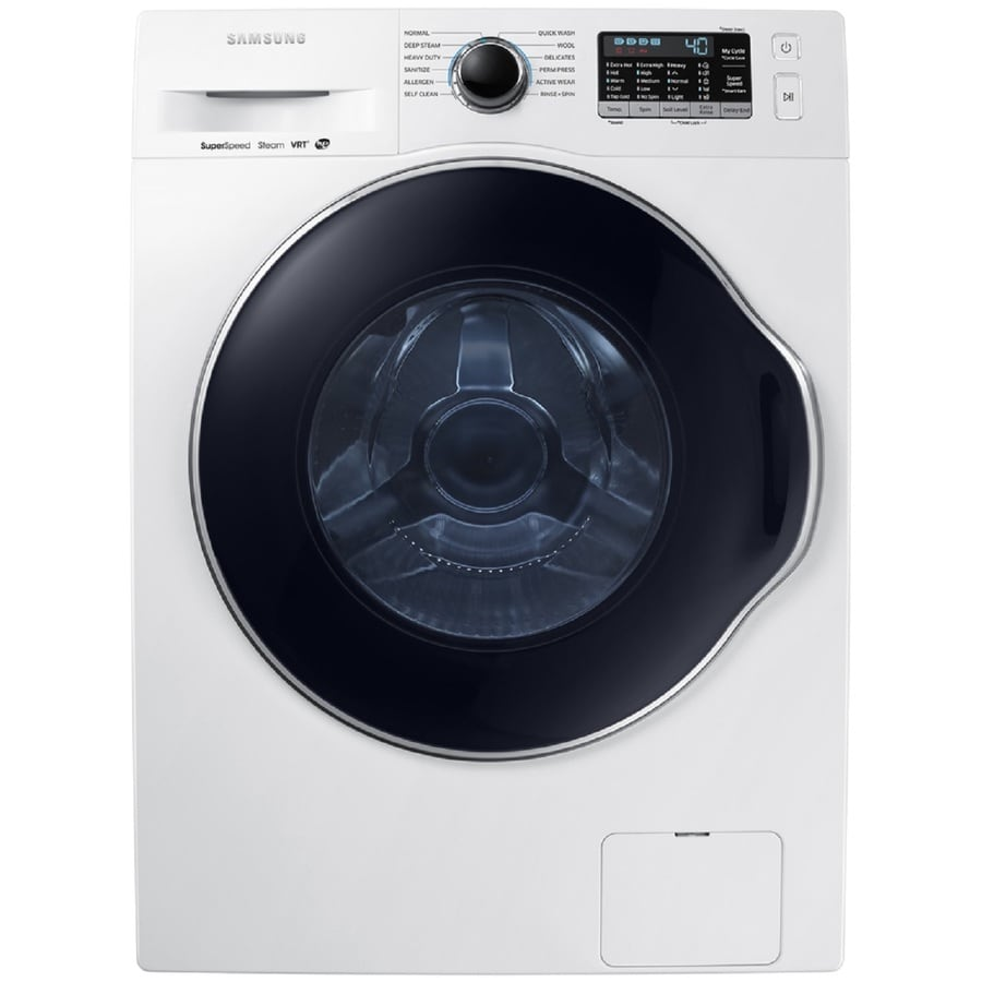 Samsung 2.2-cu ft High-Efficiency Stackable Front-Load Washer with Steam Cycle (White)