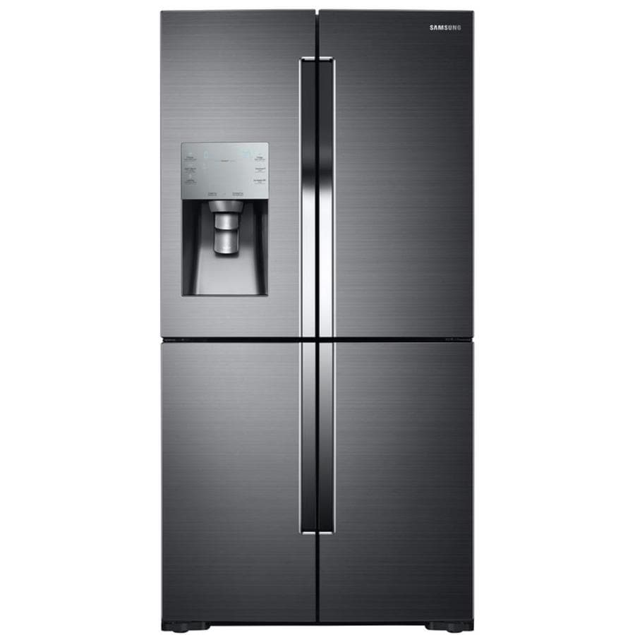 Samsung Flex 28.1-cu ft 4-Door French Door Refrigerator with Single Ice Maker (Black Stainless Steel)
