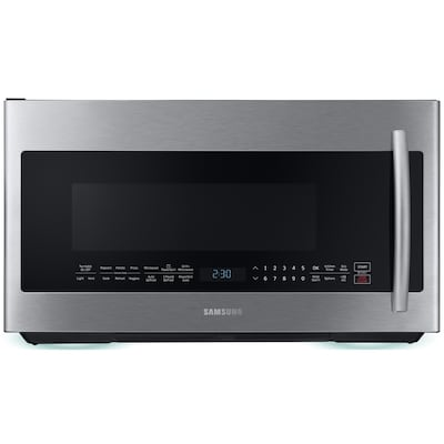 Grill 2 1 Cu Ft Over The Range Microwave With Sensor Cooking Stainless Steel Common 30 In Actual 29 875