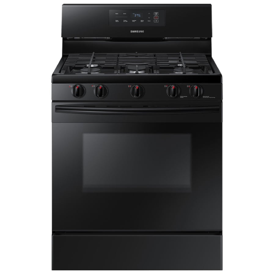 Samsung 5-Burner Freestanding 5.8-cu ft Gas Range (Black) (Common: 30-in; Actual: 29.9375-in)