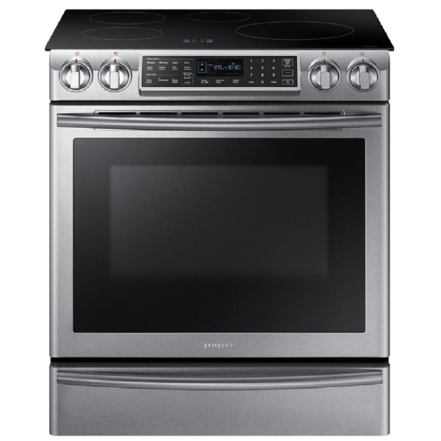Charmant Samsung Virtual Flame 4 Element 5.8 Cu Ft Self Cleaning Convection Slide