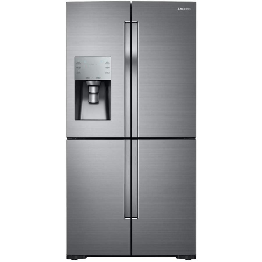 shop samsung 4 door flex 28 1 cu ft 4 door french door refrigerator with ice maker stainless. Black Bedroom Furniture Sets. Home Design Ideas