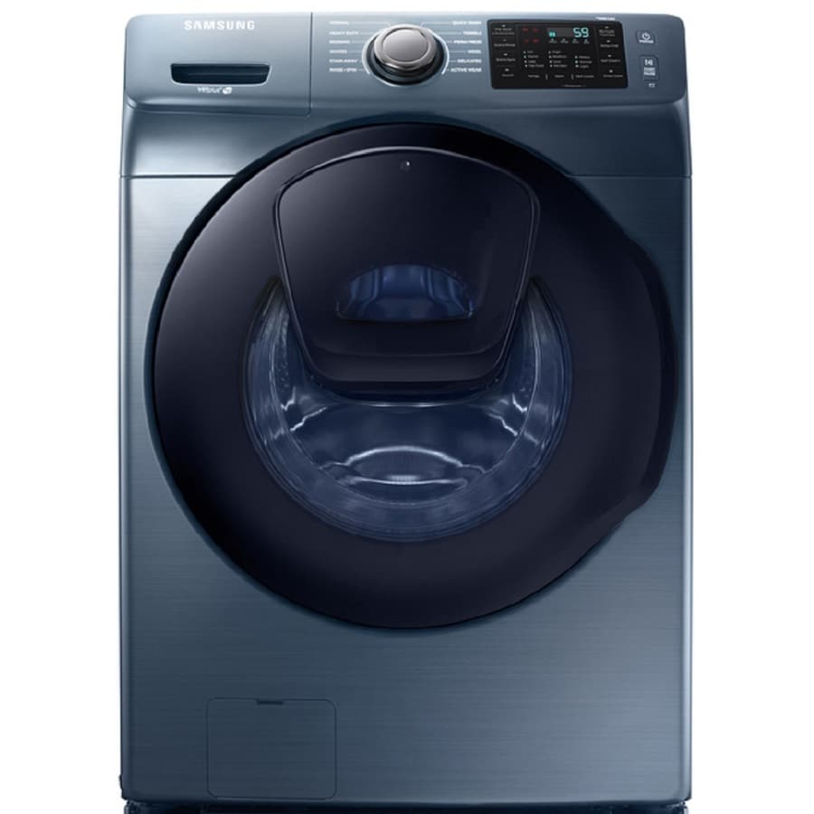 Samsung AddWash 4.5-cu ft High-Efficiency Stackable Front-Load Washer (Azure) ENERGY STAR