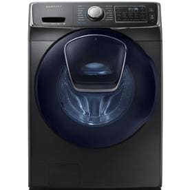 Samsung AddWash 4.5-cu ft High Efficiency Stackable Front-Load Washer (Black Stainless Steel) ENERGY STAR