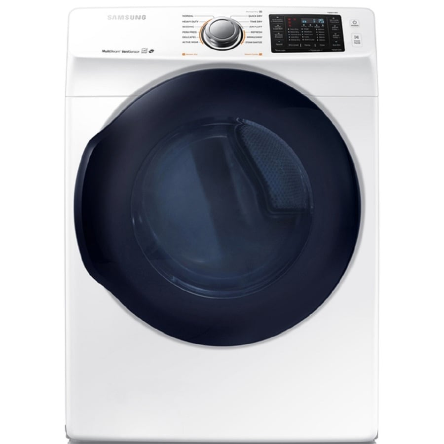 Samsung 7.5-cu ft Stackable Electric Dryer with Steam Cycle (White) ENERGY STAR