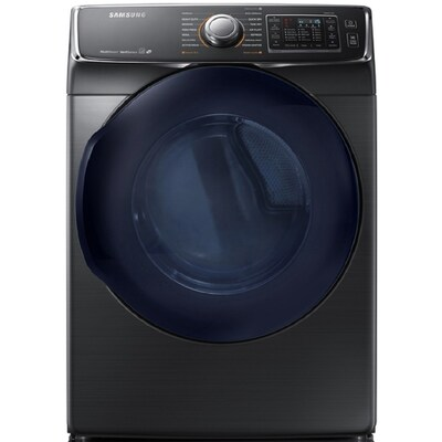 Samsung 7 5-cu ft Stackable Gas Dryer (Black Stainless Steel