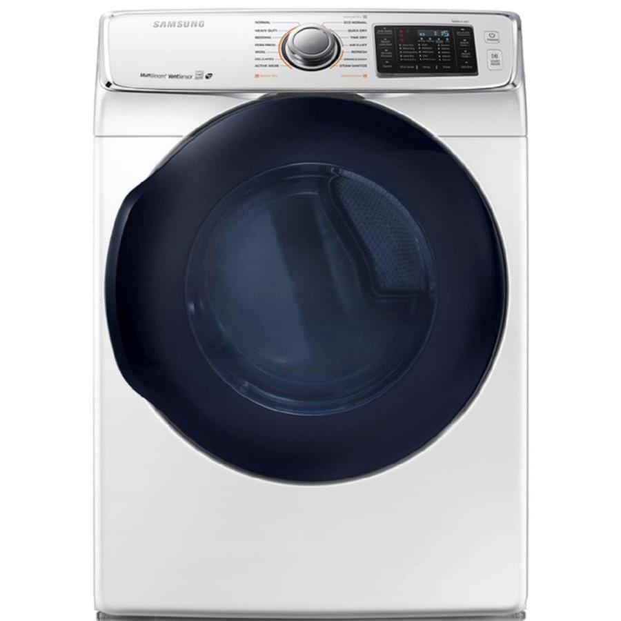 Samsung 7.5-cu ft Gas Dryer with Steam Cycle (White) ENERGY STAR