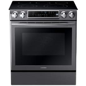 Samsung Smooth Surface 5 Element Self Cleaning Slide In True Convection Electric Range