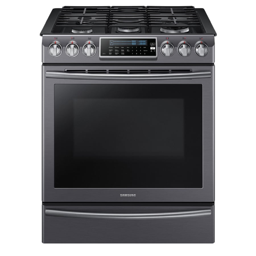 samsung 5burner 58cu ft slidein convection gas