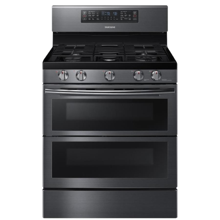 Shop samsung flex duo 30 in 5 burner 3 4 cu ft 2 3 cu ft self cleaning double oven convection - Gas stove double oven reviews ...