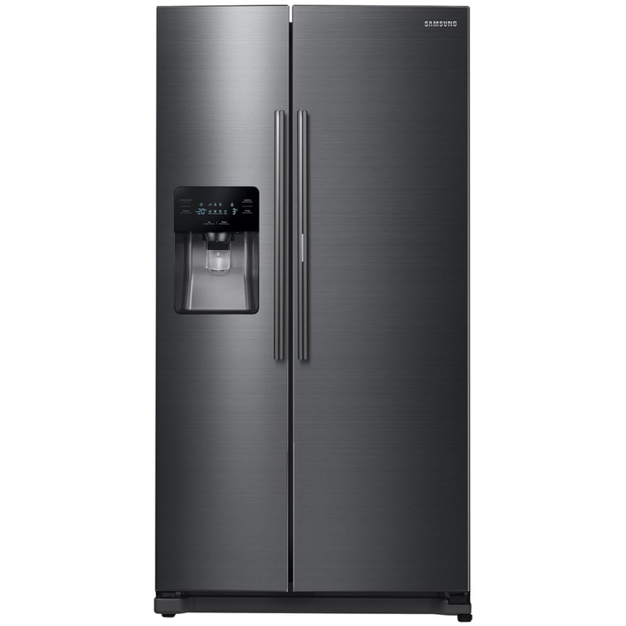 Samsung Food Showcase 24.7-cu ft Side-by-Side Refrigerator with Ice Maker and Door within Door (Black Stainless Steel) ENERGY STAR