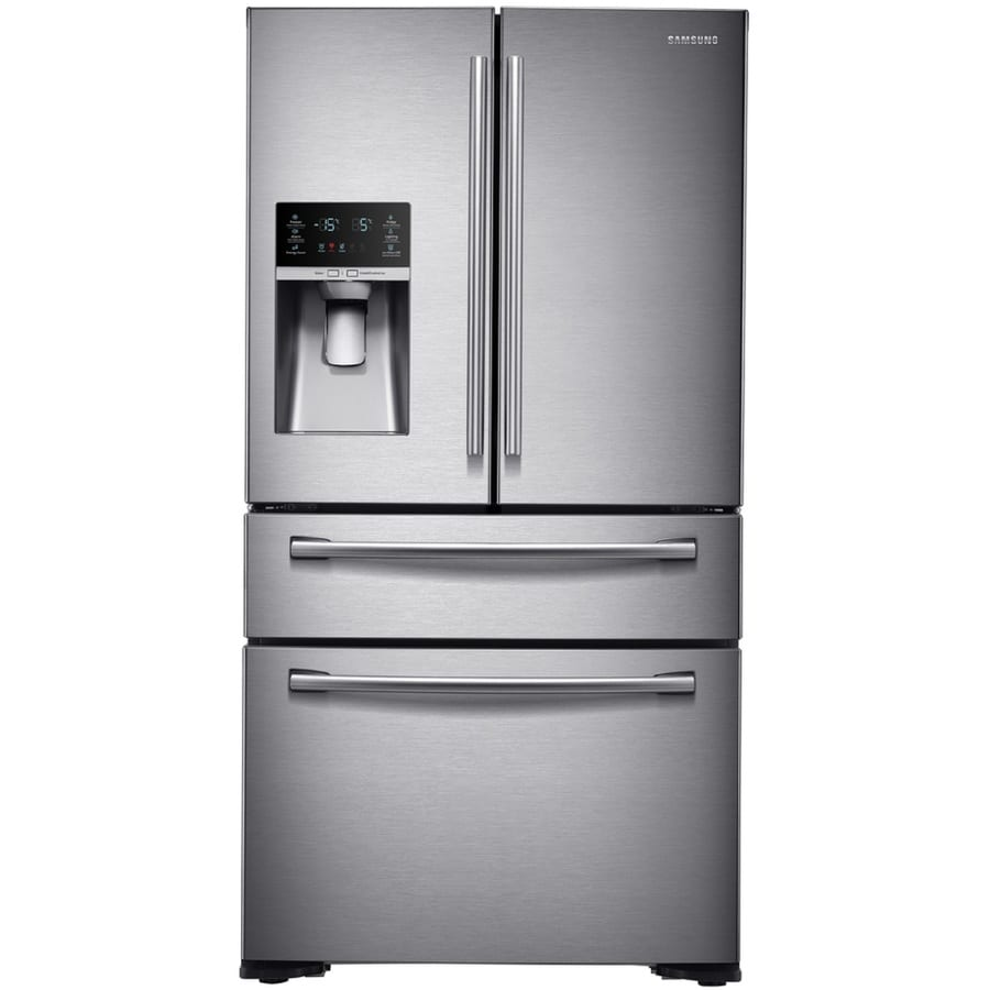 Samsung FlexZone 29.7-cu ft 4-Door French Door Refrigerator with Single Ice Maker (Stainless Steel) ENERGY STAR