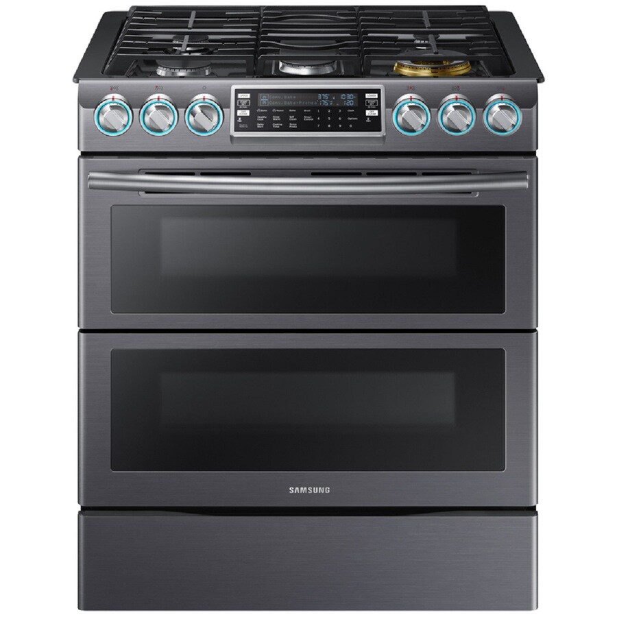 Gas Range Oven Part - 22: Samsung Flex Duo With Dual Door 30-in 5-Burner 3.4-cu Ft