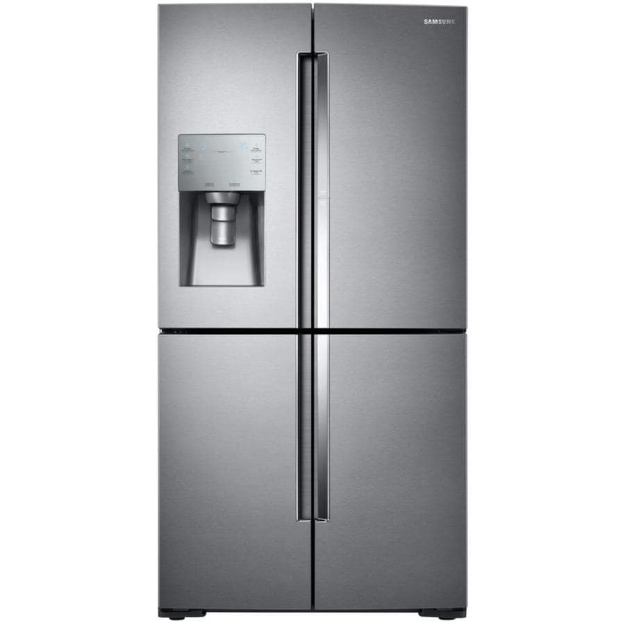 Samsung 4-Door Flex with Food Showcase 27.8-cu ft 4-Door French Door Refrigerator with Single Ice Maker and Door within Door (Stainless Steel) ENERGY STAR