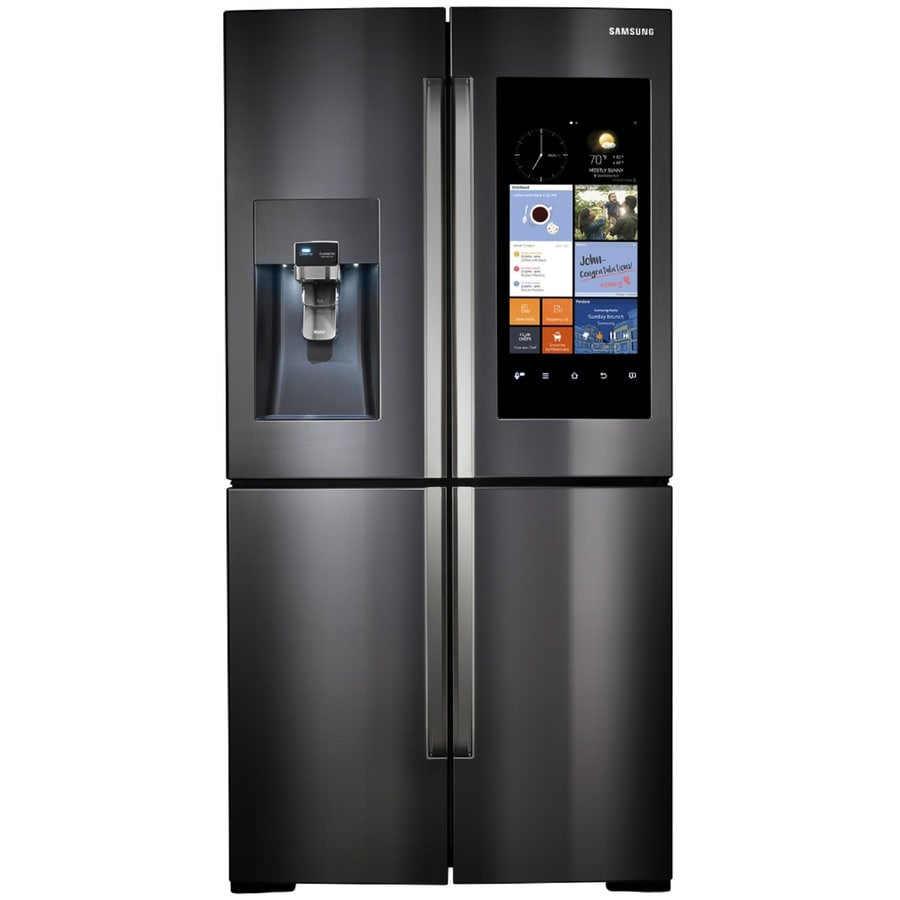 Shop Samsung 4 Door Flex With Family Hub 22 Cu Ft 4 Door Counter