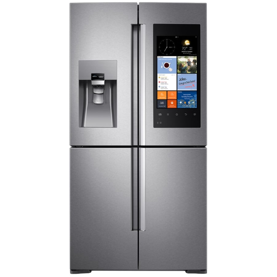 Samsung Family Hub 27.9-cu ft 4-Door French Door Refrigerator with Single Ice Maker (Stainless Steel)