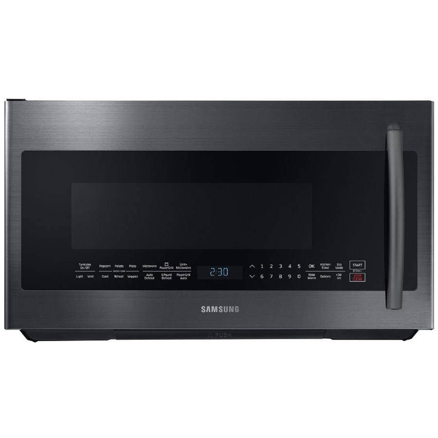 Shop Samsung Powergrill 2 1 Cu Ft Over The Range Microwave