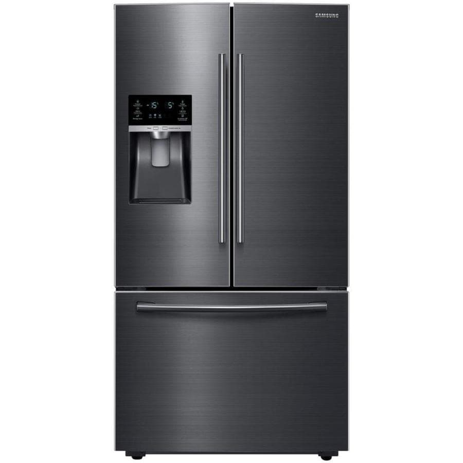 Shop Samsung 28 07 Cu Ft French Door Refrigerator With Ice