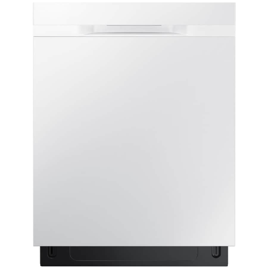 Samsung 48-Decibel Built-in Dishwasher (White) (Common: 24-in; Actual: 23.875-in) ENERGY STAR