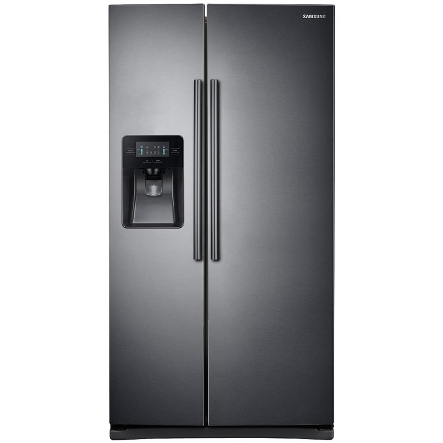 refrigerator black. samsung 24.5-cu ft side-by-side refrigerator with ice maker (black black r