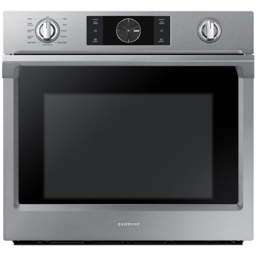Samsung Steam Cook with Flex Duo Self-cleaning Convection Single Electric Wall Oven (Stainless Steel) (Common: 30-in; Actual 28-in)