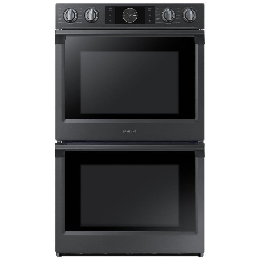 Samsung Steam Cook Self Cleaning True Convection Double Electric Wall Oven  (Fingerprint Resistant