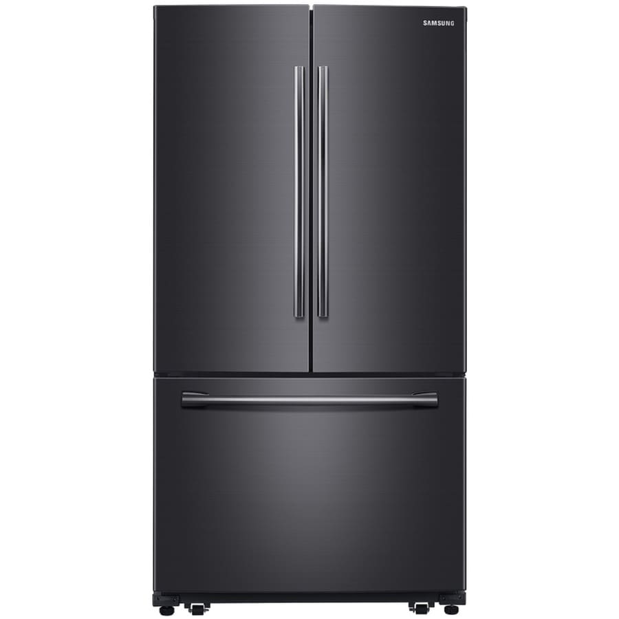 Samsung 25 5 Cu Ft French Door Refrigerator With Ice Maker Fingerprint Resistant Black