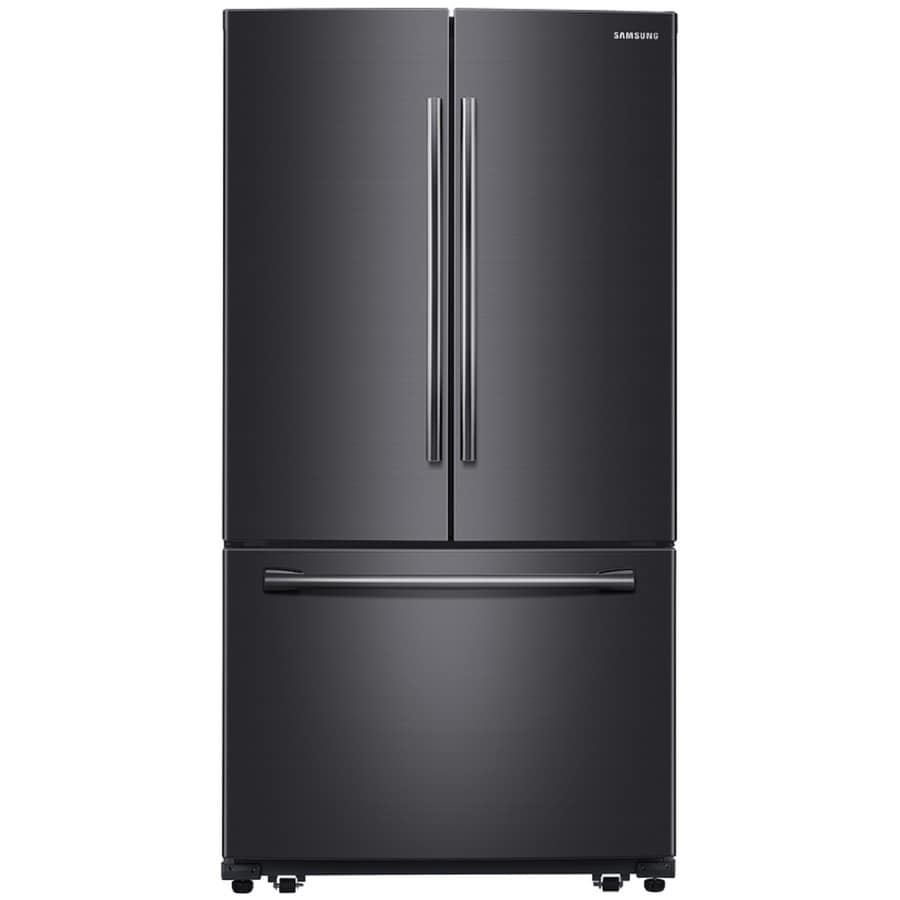 Shop Samsung 25 5 Cu Ft French Door Refrigerator With Ice