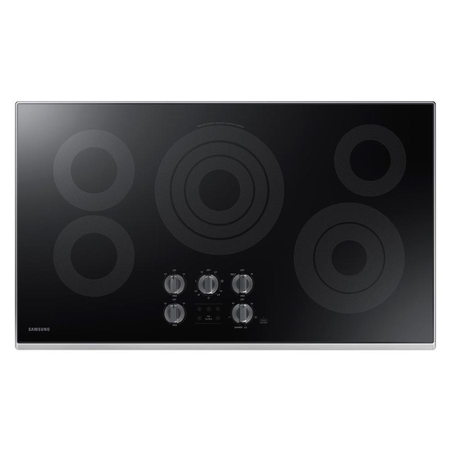 Samsung Premium 5-Element Smooth Surface Electric Cooktop (Stainless Steel) (Common: 36-in; Actual 36-in)